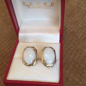 Jewelry - Large opal 14k gold earrings